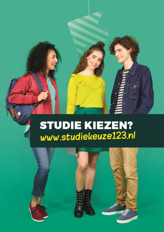 Voorkant van de studiekeuzefolder voor leerlingen