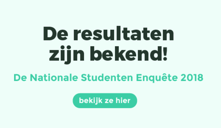 Resultaten Nationale Studenten Enquête 2018 bekend!
